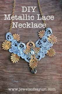 Metallic Lace Necklace DIY