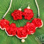 Paper rose Bridal jewellery