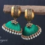 Green Silk thread bridal Jewellery