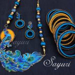 Vibrant Bridal silk thread jewelry