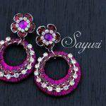 Pink and purple silk jewelry