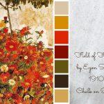 JAN ABS – Red Orange Flowers