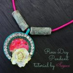 Rose day pendant necklace tutorial