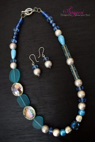 Blue Dew necklace set