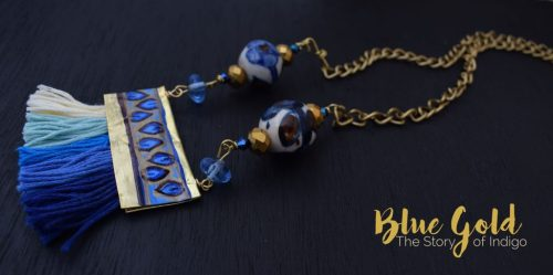 Blue Gold Thread jewelry