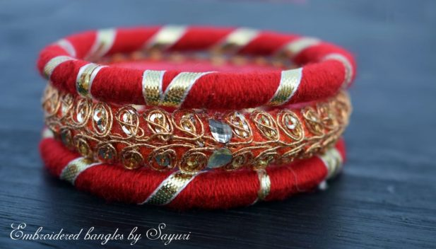 Embroidered Fabric Bangles