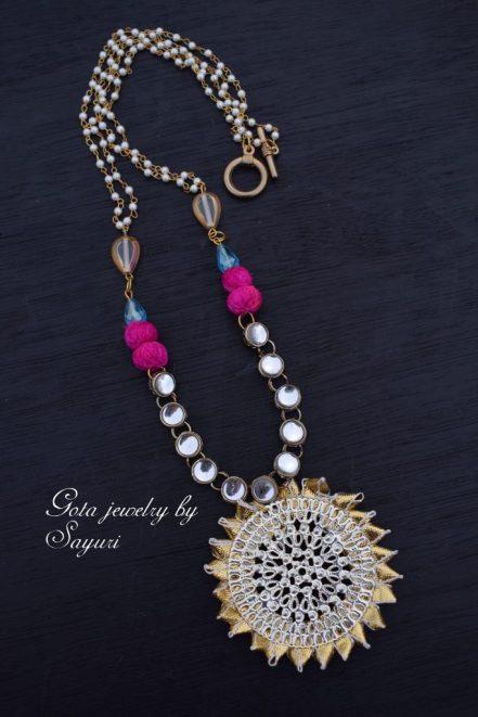 gota necklace for weddings by Sayuri