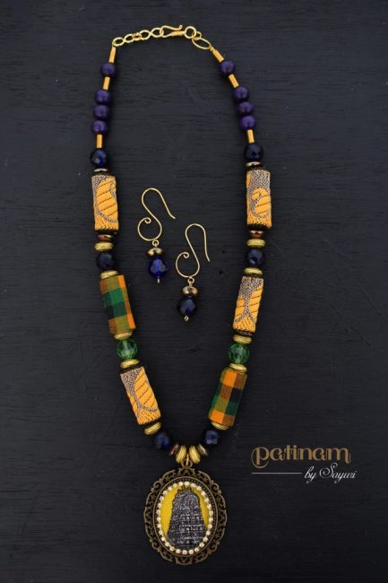Of Temples and Jewellery - Marundeeshwar temple necklace by Sayuri for sale