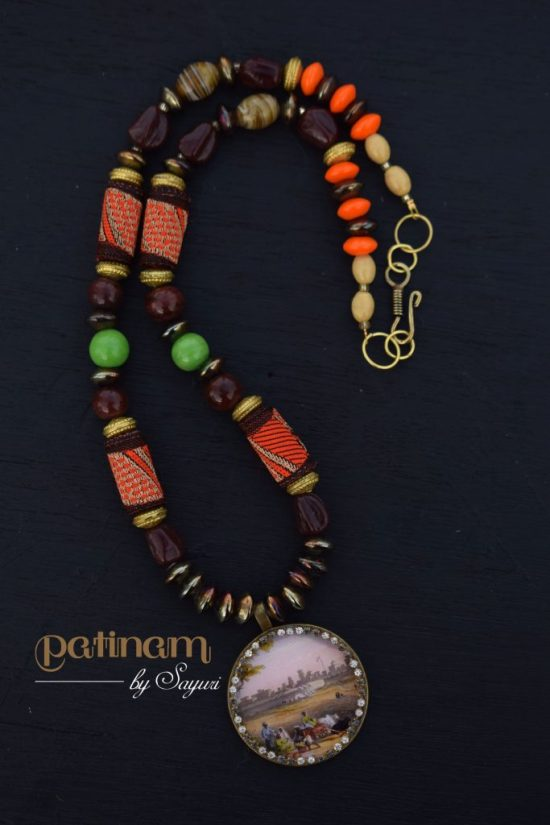 old madras necklace by Sayuri