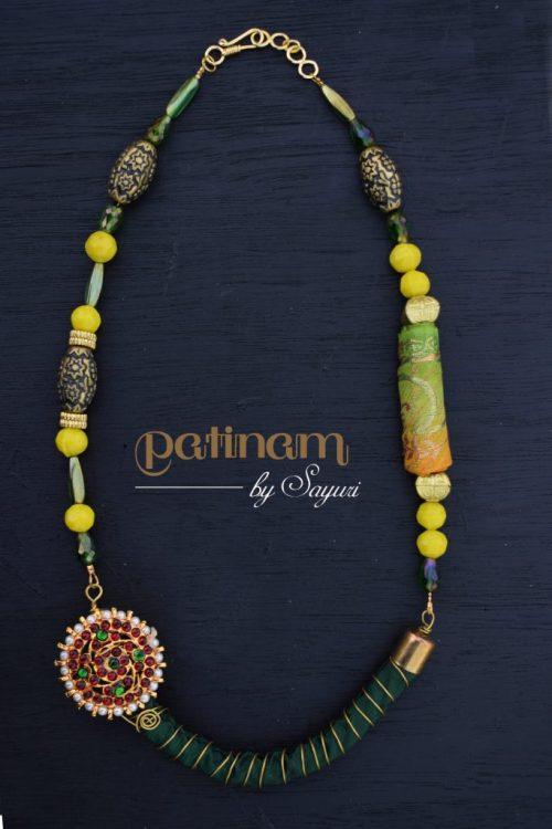pachai manjal necklace