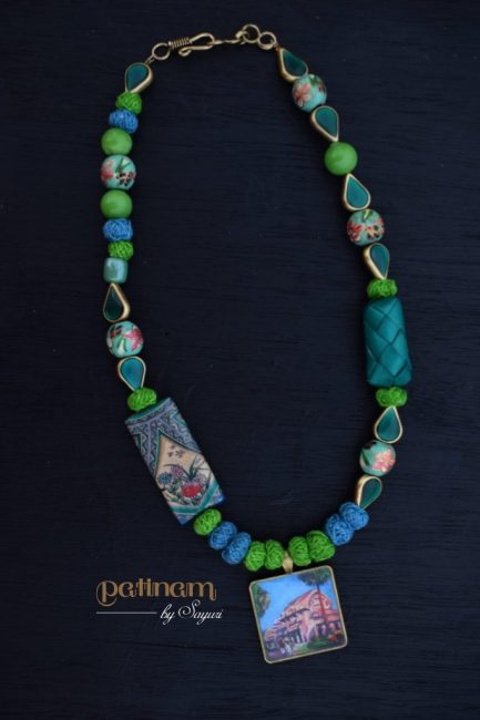 Of Temples and Jewellery - Mahabalipuram temple necklace by Sayuri for sale