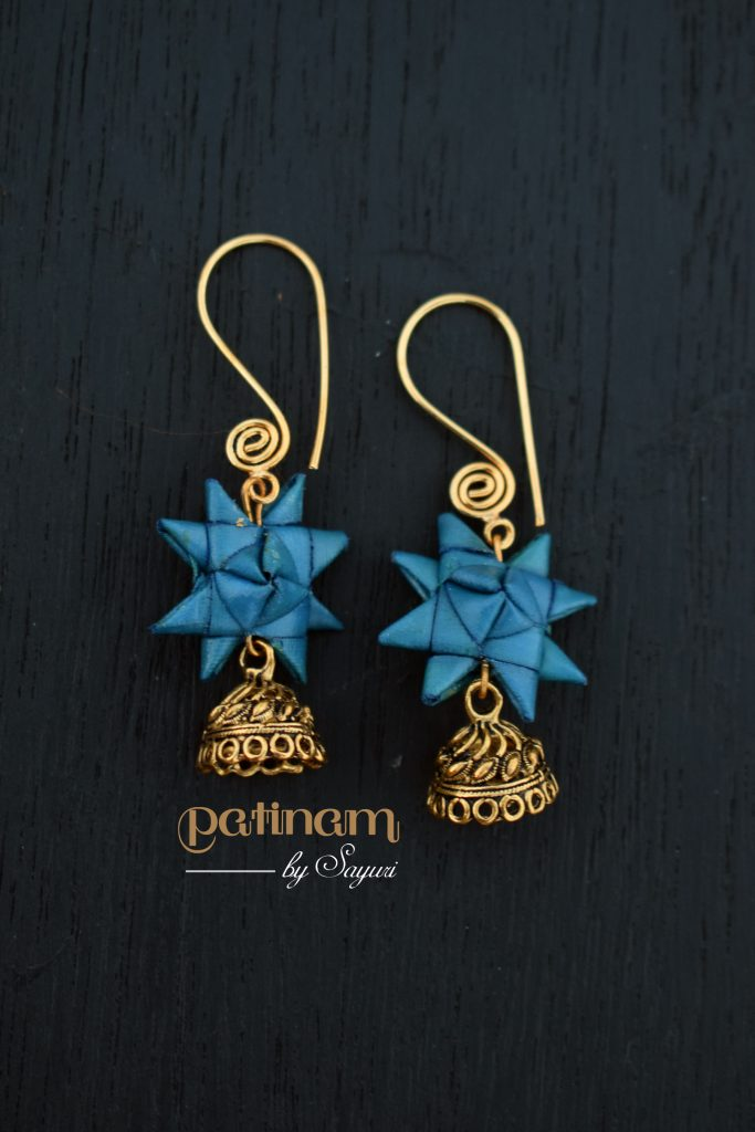 palm star earrings gold - sold