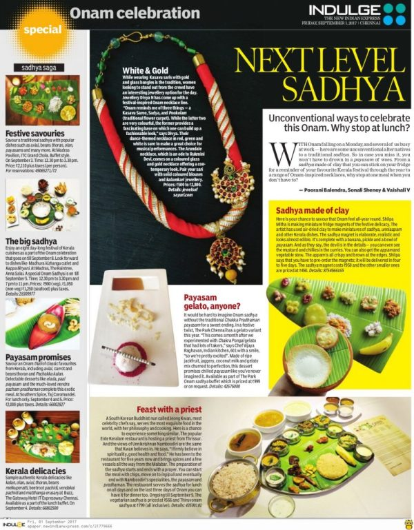 Divya N - Patinam featured in newspapers - indulge