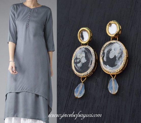 gray dress LOTD