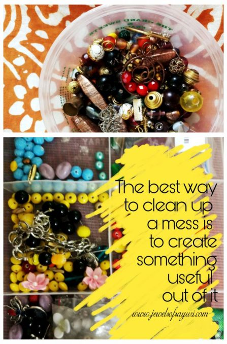 Beaded earrings craftermath mess poster