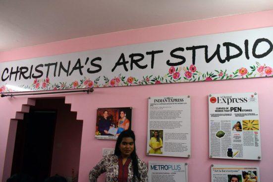 Christina at her studio