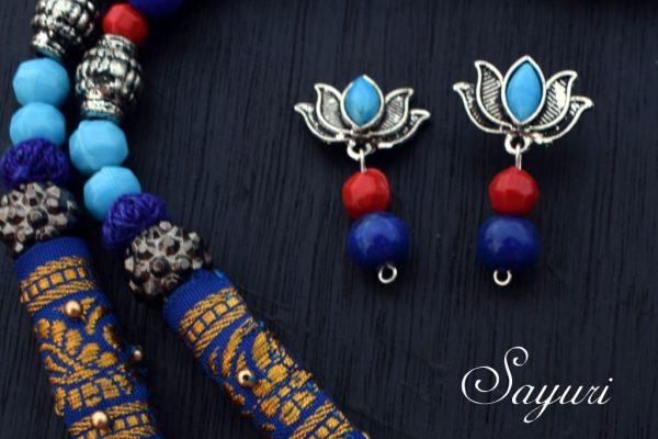 blue lotus stud
