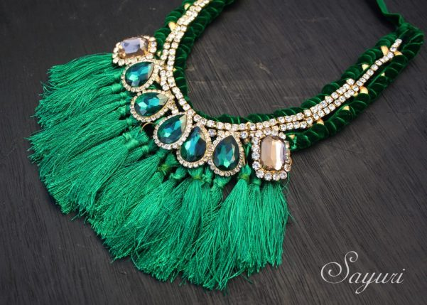 Diy Blingy Silk Tassel Necklace Jewels Of Sayuri