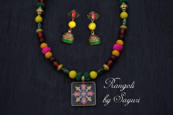 Pongal and Sankranti Rangoli Jewellery