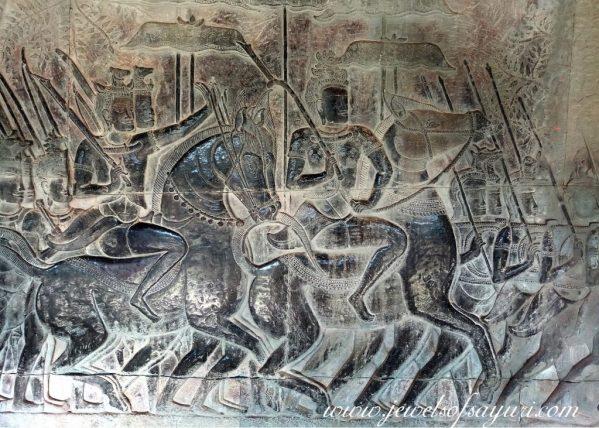 Angkor Wat Jayavarman relief