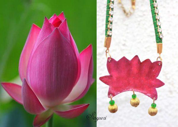 Lotus necklace - Dhatu collection 2013