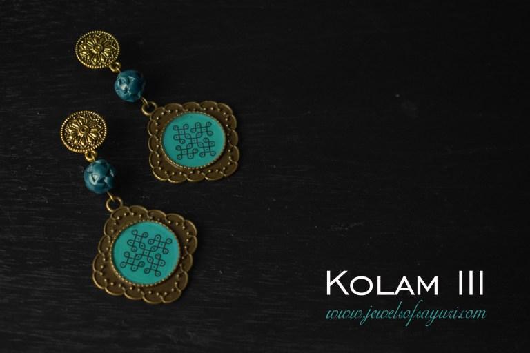 Pulli Kolam earrings