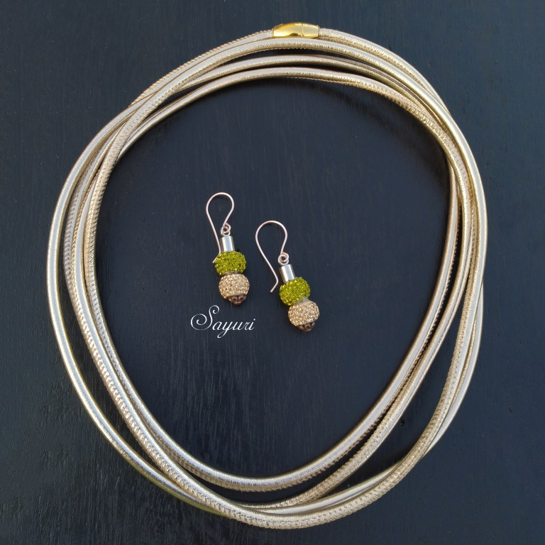 gold leather cord necklace