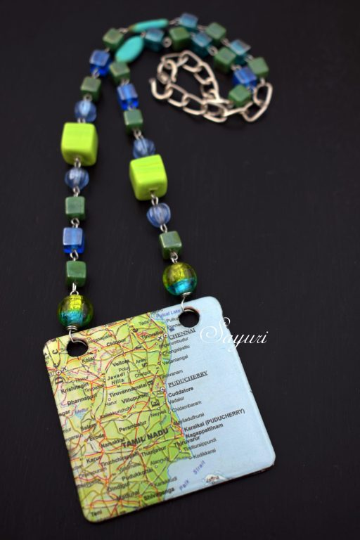 Tamil Nadu map necklace