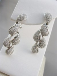 Diamond Chandelier Earrings 3.00Ct Natural Certified White ...