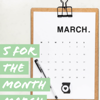 5 For The Month March 2020