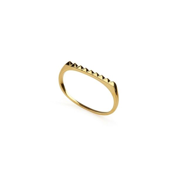 Ring - PURE PYRAMID DOUBLE RING  18ct Gold Vermeil