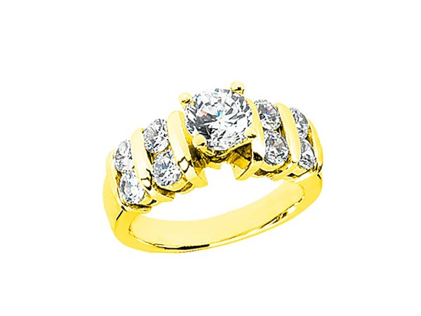 1.4ct Diamond 2row Open Engagement Ring 10k Rose White Yellow Gold