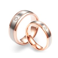 Fashion Europe Rose Gold Couple Rings - Couple Rings