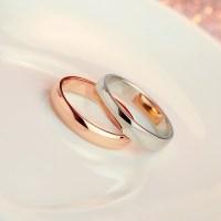 Korean Fashion Glossy Titanium Steel Rose Gold Plated ...