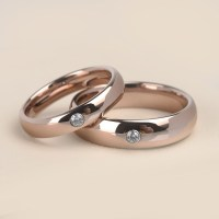 New Quality Assurance Simple Rose Gold Plated Tungsten ...