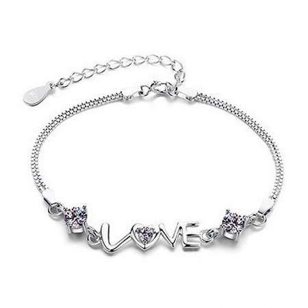 Men's Wide Hollow And Woman's Slim Elegant 925 Silver