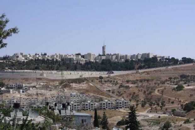 Гора Скопус (вид сверху) находится под контролем Израиля с 1948 года, несмотря на то, что она находится в восточном Иерусалиме, оккупированным Иорданией до Шестидневной войны 1967 года (Wikimedia Commons)