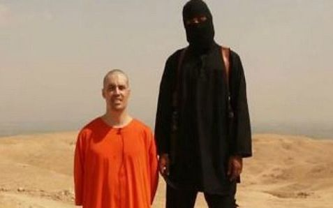 "James Foley and his Islamic State executioner, a British citizen whose first name may be ""john."""