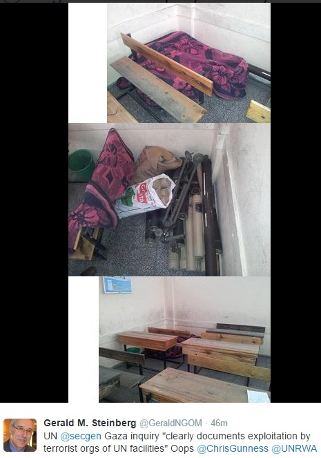 Weapons discovered in UN schools in Gaza