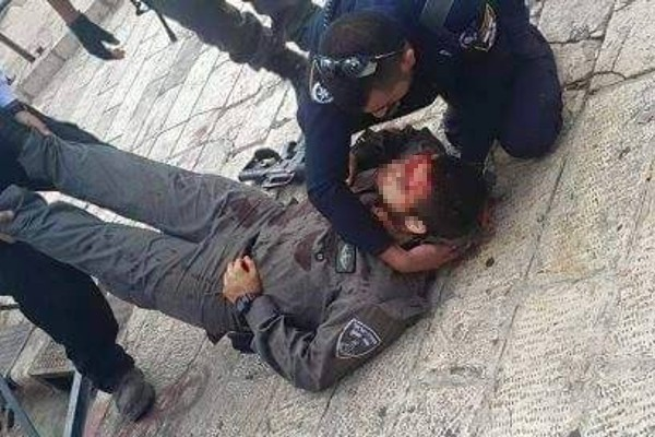 Injured police officer