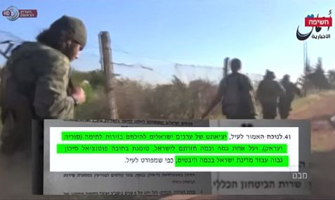 Shin Bet intelligence report on the presence of ISIS in Israel via Israeli Arabs.