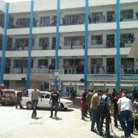 Gaza Rocket Hits UNRWA School