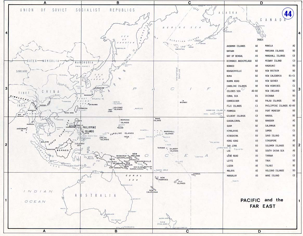 Map Of The Pacific Prior To World War Ii