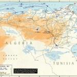 Map Of Algeria And Tunisia November 1942