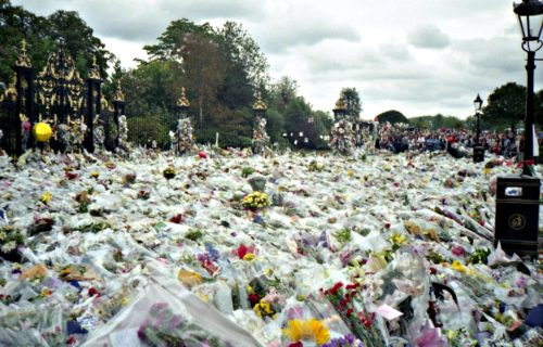 Flowers or Princess Diana's Funeral