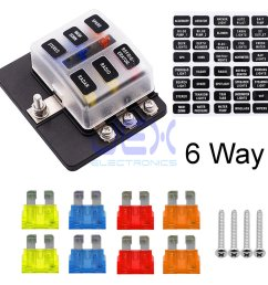 6 way atc ato blade fuse box holder power block distribution for car rv trailer [ 1000 x 1000 Pixel ]