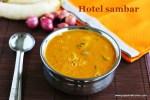 Hotel sambar recipe