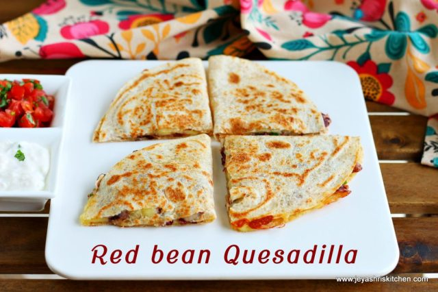 Red bean quesadilla