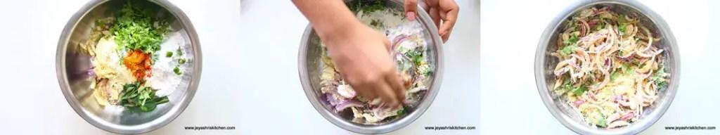 Baked onion pakora 1
