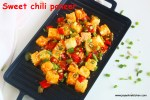Sweet chilli paneer